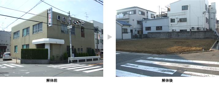 牧方市 病院 RC造2階建 100坪 解体費用:350万円 工事期間:23日間